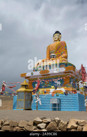 Langza Buddha statue, Himachal Pradesh, India - Stock Photo