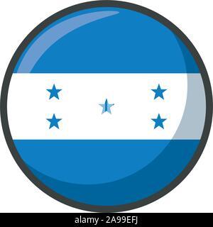 honduras flag design, country national state patriotism united world and international theme Vector illustration - Stock Photo