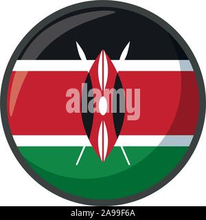 kenya flag design, country national state patriotism united world and international theme Vector illustration - Stock Photo
