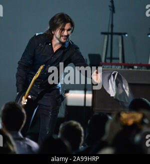 Las Vegas, United States. 13th Nov, 2019. Juanes performs onstage at the Latin Grammy Person of the Year gala honoring Columbian singer Juanes at the MGM Grand Convention Center in Las Vegas, Nevada on Wednesday, November 13, 2019. Photo by Jim Ruymen/UPI Credit: UPI/Alamy Live News - Stock Photo