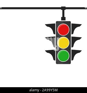 Traffic light icon - vector. Traffic light icon isolated. Traffic light icon in flat style. - Stock Photo
