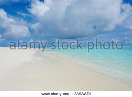 Beautiful beach shot with the sky and sand in view - Stock Photo