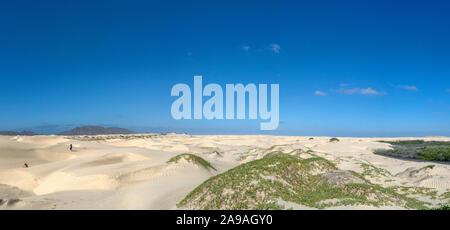 desert sand dunes view in Baja California Sur Mexico - Stock Photo