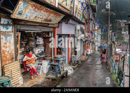 Ganj Road, Shimla, Himachal Pradesh - Stock Photo