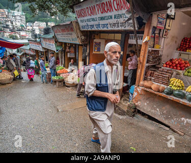 Sabzi mandi, or vegetable market, Shimla, Himachal Pradesh - Stock Photo