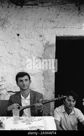 WEDDING PARTY, JUBANI (?), NEAR SHKODRA, ALBANIA, SEP' 91 - Stock Photo