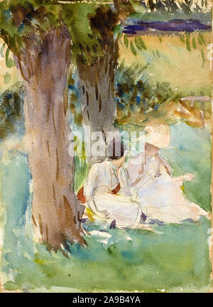 John Singer Sargent, Under the Willows, watercolour painting, 1888 - Stock Photo