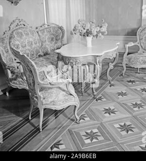 Sitting room suite, Germany 1930s. - Stock Photo