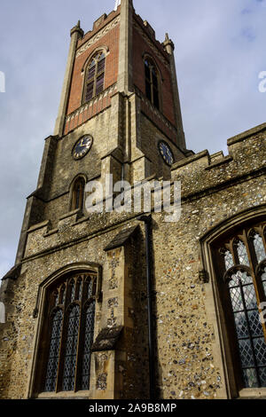 st michaels church,Bishops Stortford Town Centre High Street, Hertfordshire, England, UK, GB - Stock Photo