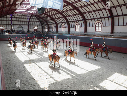 MANIFESTATION OF REGIMENT OF CAVALRY OF REPUBLICAN GUARD AT THE CELESTINS BARRACKS - Stock Photo