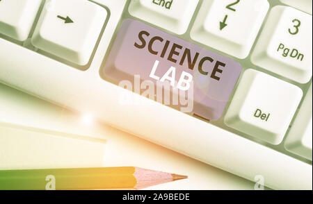 Handwriting text Science Lab. Conceptual photo special facility where experiments are done and with equipment - Stock Photo