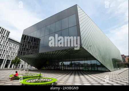 10.06.2019, Berlin, , Germany - The futurium in the government quarter between the chapel bank and the Alexander bank in Berlin-Mitte. The new buildin