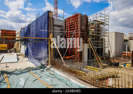 09.07.2019, Oberhausen, North Rhine-Westphalia, Germany - Emscher conversion, new construction of the Emscher AKE sewer, here pumping station Oberhaus - Stock Photo