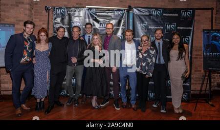 New York, NY, USA - November 13, 2019: Cast and crew attend 'Night Sweats' New York Premiere screening at Tribeca Screening Room, Manhattan         ; - Stock Photo