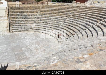 Kourion Theatre CYPRUS August 28 2019 Amphitheatre - Stock Photo