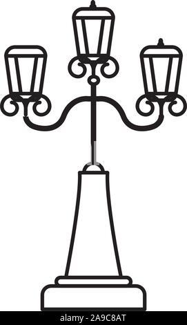 england postlamp classic isolated icon - Stock Photo