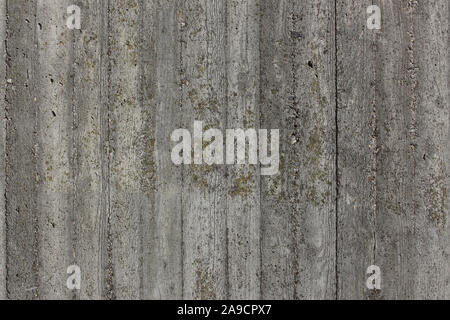 Concrete wall with wooden imprint texture for background or wallpaper - Stock Photo