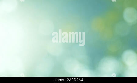 Defocused abstract nature background with green leaves and bokeh lights, natural blurred bokeh background from leaf and trees - Stock Photo