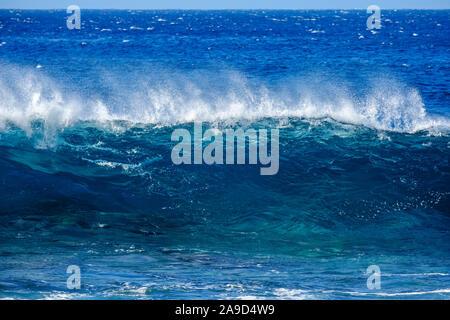 Wave in the Atlantic, Valle Gran Rey, La Gomera, Canary islands, Spain - Stock Photo