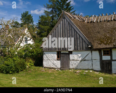 Sweden, Scania, thatched farm near Sjöbo - Stock Photo