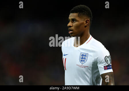 Wembley Stadium, London, UK. 14th Nov, 2019. European Championships 2020 Qualifier, England versus Montenegro; Marcus Rashford of England - Editorial Use Credit: Action Plus Sports/Alamy Live News - Stock Photo