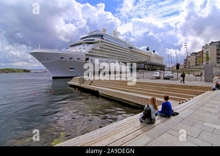 Cruise ship Eclipse in port, in Stavanger, Rogaland, Norway - Stock Photo