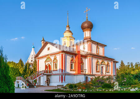 Holy Trinity Cathedral in Novo Golutvin convent in the city of Kolomna. Moscow Oblast. Russia - Stock Photo