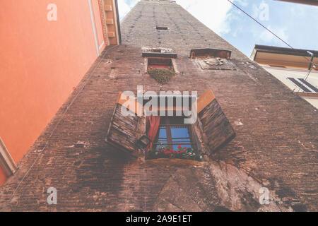 Town view of Bologna, Emilia Romagna, Italy, Europe, - Stock Photo