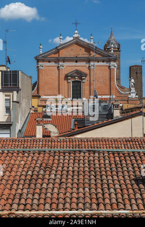 Above the roofs of Bologna, Emilia Romagna, Italy, Europe, - Stock Photo