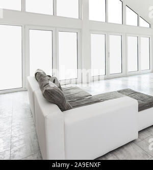 White couch - Stock Photo