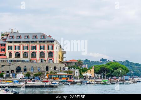 View to the Maritime Consortium Turistico Cinque Terre - Gulf of Poets, Porto Venere, La Spezia, Italy - Stock Photo