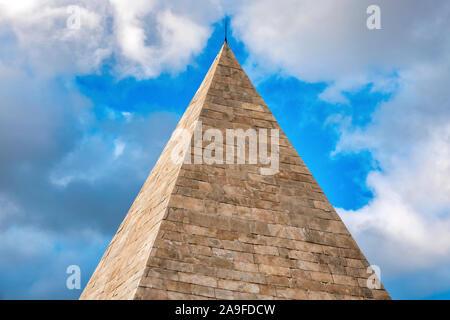 Pyramid of Cestius, Rome, Italy - Stock Photo