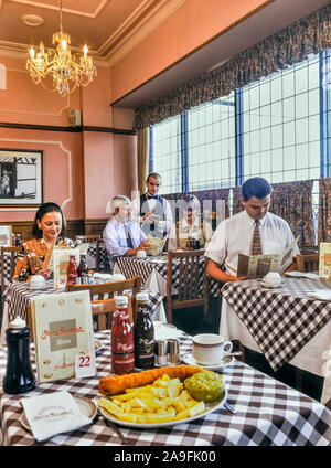 Harry Ramsden's fish 'n' chip restaurant, Blackpool, Lancashire, England, UK. Circa 1990's - Stock Photo
