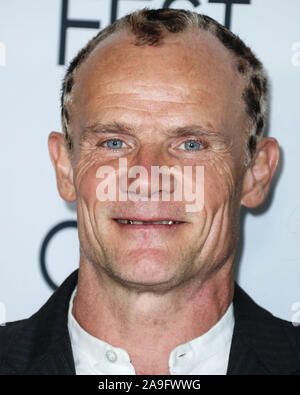 Hollywood, United States. 14th Nov, 2019. HOLLYWOOD, LOS ANGELES, CALIFORNIA, USA - NOVEMBER 14: Flea arrives at the AFI FEST 2019 - Opening Night Gala - Premiere Of Universal Pictures' 'Queen And Slim' held at the TCL Chinese Theatre IMAX on November 14, 2019 in Hollywood, Los Angeles, California, United States. (Photo by Xavier Collin/Image Press Agency) Credit: Image Press Agency/Alamy Live News - Stock Photo