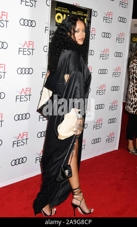HOLLYWOOD, CA - NOVEMBER 14: Rihanna attends the 'Queen & Slim' Premiere at AFI FEST 2019 presented by Audi at the TCL Chinese Theatre on November 14, 2019 in Hollywood, California. - Stock Photo