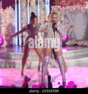 NEW YORK, NY - November 14: Gwen Stefani tapes her New Year's Eve performance at The Rink at Rockefeller Center in New York City on November 14, 2019. Credit: RW/MediaPunch - Stock Photo