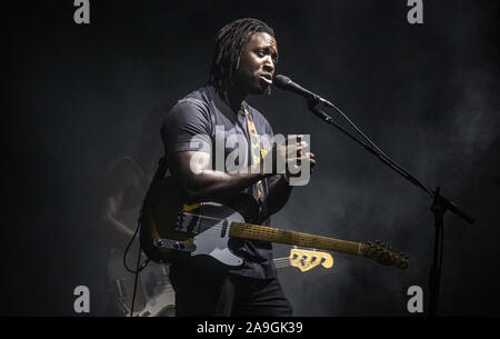 Kele Okereke of Bloc Party performing live at Victorious Festival, Portsmouth, UK - 24th August 2019 - Stock Photo