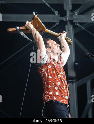 Tim Wheeler of Ash performing live at Victorious Festival, Portsmouth, UK on 25th August 2019. - Stock Photo