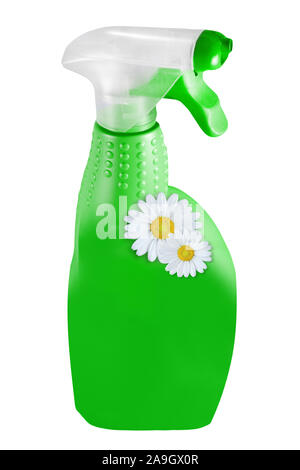 Cleaning agent bottle isolated against white background - Stock Photo