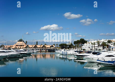 Europa, Portugal, Algarve, Vilamoura, Maritim, Hafen,  Strand, Meer, Atlantik - Stock Photo