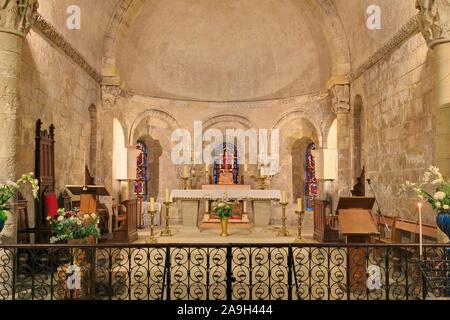 Basilica of Notre-Dame-de-la-Fin  Des-Terres, Soulac-sur-Mer, Medoc Atlantique, France - Stock Photo
