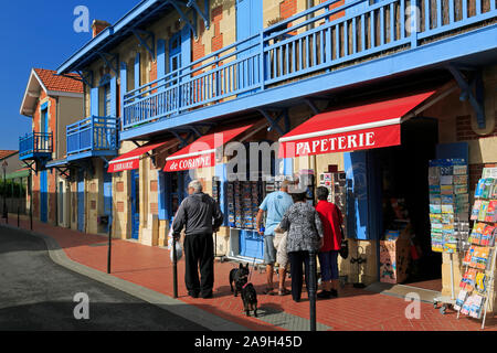 Store in Soulac-sur-Mer, Medoc Atlantique, France - Stock Photo