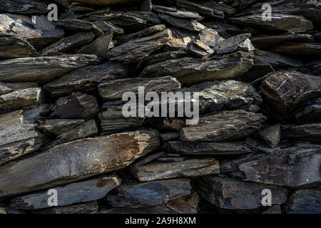 rock formations on rheinsteig hiking trail in the middle rhine valley, germany - Stock Photo