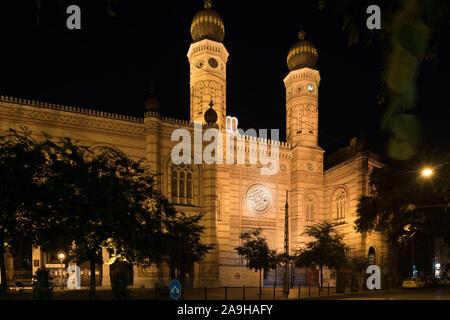 Budapest, Dohány utcai zsinagóga, Große Synagoge, Great Synagogue, Ludwig Förster 1859 - Stock Photo