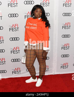 November 14, 2019, Hollywood, California, USA: VickeeLo attends AFI FEST 2019 Presented By Audi – ''Queen & Slim'' Premiere. (Credit Image: © Billy Bennight/ZUMA Wire) - Stock Photo