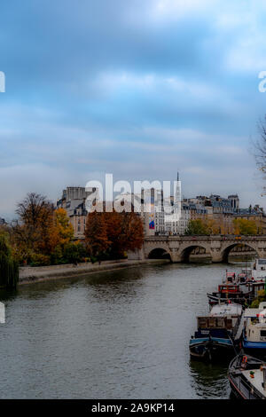 Parisian architecture, famous buildings and way of life - Stock Photo