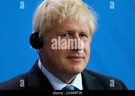 Boris Johnson - Treffen der dt. Bundeskanzlerin mit dem britischen Premierminister, Bundeskanzleramt, 21. August 2019, Berlin (nur fuer redaktionelle - Stock Photo