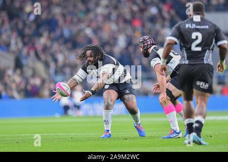 LONDON, United Kingdom. 16th, Nov 2019. Max Clark of Bath in action during The Killik Cup - Barbarians vs Fiji at Twickenham Stadium on Saturday, 16 November 2019. LONDON ENGLAND. Credit: Taka G Wu/Alamy Live News - Stock Photo