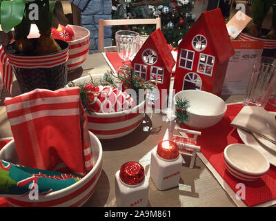 Macy's Department Store at Christmas Season, Herald Square, NYC - Stock Photo
