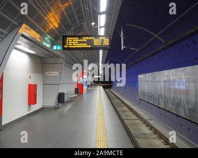KOELN, GERMANY - CIRCA AUGUST 2019: Rathaus (Town Hall) subway station - Stock Photo